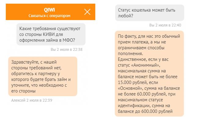 требования qiwi